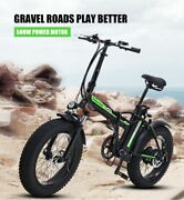 Electric Mountain Bikes Motorcycle Type Foldable Bicycles Cycling Snow Fat Tires