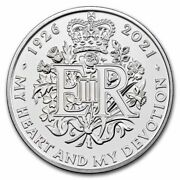 2021 Gb Andpound5 95th Birthday Of The Queen Brilliant Uncirculated - Sku230503