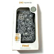 Speck Ipod Touch 4th Generation Case Black White Skull Fabric Backed Protection