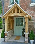 Oak Porch Doorway Wooden Canopy Self Build Kit Curved Posts And Tie Beam