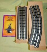 Mth Realtrax Tubular 31 X 51 Oval 8x O31 Curve And 4x 10 Straight And Lock-on