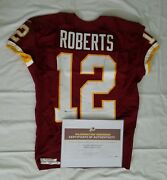 12 Andre Roberts Of Redskins Nfl Game Used And Unwashed Jersey Vs. Rams Wcoa