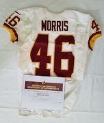 46 Alfred Morris Of Redskins Nfl Game Worn And Unwashed Jersey Vs. 49ers With Coa
