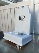 New Animated Skeleton Hand Tipping Tombstone Graveyard Cemetery Electric Prop
