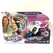 New Nerf Rebelle Knock Out Gallery Set 3 Targets, 3 Darts, 1 Gun New
