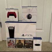 🔥 Sony Playstation 5 Ps5 Disc Console. Extras