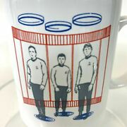 Vintage 1989 Star Trek Coffee Cup Disappearing Transporter Mug Heat Activated