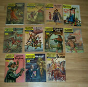 Estate Find Lot Of 11 Classics Illustrated Comics From The 40and039s-60and039s