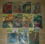Estate Find Lot Of 11 Classics Illustrated Comics From The 40and039s To 60and039s