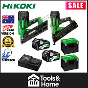 Hikoki 18v Framer Fixing Combo 5.0ah Li-ion Cordless Brushless 2pce Nailer Kit