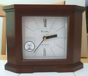 Bulova Mantel Clock..vintage. Battery...new..in Box W/papers.. Never Used.