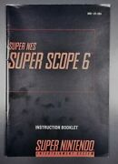 Super Scope 6 Snes Super Nintendo Game Cart With Instruction Manual