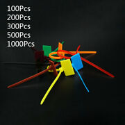 3x160mm Self-locking Nylon Label Cable Ties Zip Wrap Bind Wire Markable Colorful