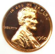 1960 Proof Lincoln Cent 1c Ld - Ngc Pr69 Rd Ultra Cameo Pf69 - 2500 Value