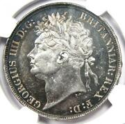 1822 Great Britain England George Iv Crown Tertio Coin - Certified Ngc Au53