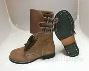 World War Ii Ww2 Us Army Leather Combat Double Buckle Boots Shoes