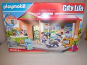 Playmobil 70320 City Life Take Along Grocery Store - New In Open Box Box Damage