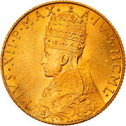 [906581] Coin Vatican City Pius Xii 100 Lire 1950 Ms Gold Km48