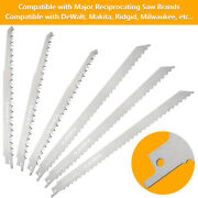 Stainless Steel Reciprocating Saw Blades For Frozen Meat Beef Bone Food 6 Pack