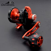 Camekoon Lever Drag Saltwater 6.31 Trolling Reel For Slow Pitch Jigging Fishing