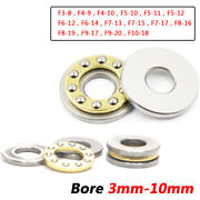 3mm - 10mm Bore Miniature Plane Thrust Ball Bearings With Grooved F3-8 To F10-18
