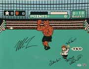 Mike Tyson And Charles Martinet Signed 16x20 Photo Punch Out Nintendo Psa Ai81217