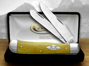 Case Xx Yellowhorse Hammered Steel Antique Bone 1/25 2 Trapper Pocket Knives