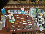 Huge Lot Salt Water, Fly Fishing, Bass Fishing Lures Lines Hooks Ties Weights...
