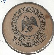 The Great Seal Of The State Of Mississippi Token Indian Head Wooden Nickel