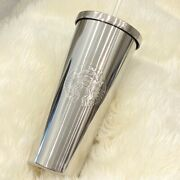Starbucks Tumbler Cold Cup Mirror Stainless Steel Metal Collectors Rare