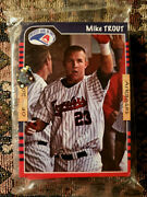 2011 Arkansas Travelers Mike Trout Rookie Card Team Bag Sealed Shows On Top Rare