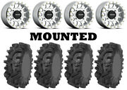 Kit 4 Sedona Mudder Inlaw Tires 30x10-14 On Method 401 Beadlock Machined Hp1k