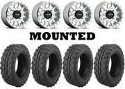 Kit 4 Moose 8-ball Tires 26x9-14 On Method 401 Beadlock Machined Wheels Can