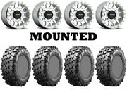Kit 4 Maxxis Carnivore Tires 32x10-14 On Method 401 Beadlock Machined Wheels Can