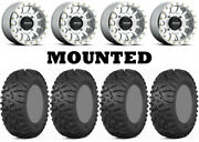 Kit 4 Itp Terra Claw Tires 27x9-14/27x11-14 On Method 401 Beadlock Machined Can
