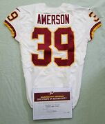 39 David Amerson Of Redskins Nfl Game Used And Unwashed Jersey Vs. Vikings Wcoa