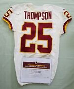 25 Chris Thompson Of Redskins Nfl Game Used And Unwashed Jersey Vs Panthers Wcoa