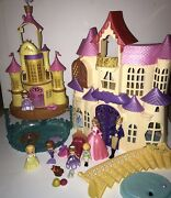 Sofia The First Magical Talking Castle W/ Figures And Sea Castle Mermaid As-is
