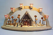 Candle Arches Nativity El. Lighting Illuminated Arch 31 1/2in Window Decoration