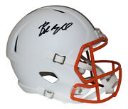 Baker Mayfield Autographed Cleveland Browns Flat White Replica Helmet Bas 26587
