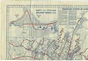 Mk-029 Hi, Honolulu, Vintage Uso Map Of The City, Pre State With Bus Routes Fold