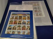 Scott's No. 2869 And 2870 Legends Of The West Error And Revised Sheets - Rare Set