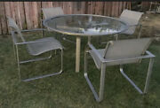 Brown Jordan Quantum Collection Aluminum Patio Table And 4 Chairs
