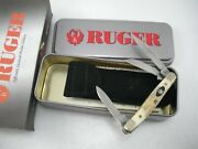 Case Limited Edition Stag Ruger Stockman Knife Never Used In Box 5327 Ss