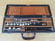 Antique 1939 Mollenhauer And Son Guards Flute And Rampone Alto Piccolo Boxed Pair