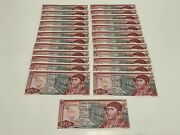 1976 Mexico Lot 25 Notes 20 Pesos Mexican Banknotes Unc Serie Cd And Cp