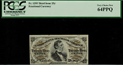 Fr-1295 0.25 Third Issue Fractional Currency - 25 Cent - Pcgs 64ppq