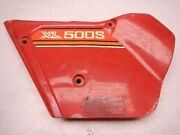 Left Side Cover Panel Plate A 1979-1981 Honda Xl500s Xl 500 S 17220-435-000za