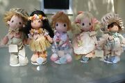 Lot Of 5 Precious Moments Last Forever By Applause Dolls, 14 To 16 With Stands