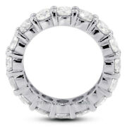 2ct H Vs2 Round Earth Mined Certified Diamonds 18k Gold Classic Eternity Ring